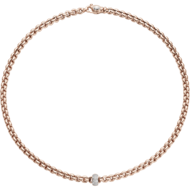 Fope Halskette Flex'it Olly Roségold 721C-PAVE_RG