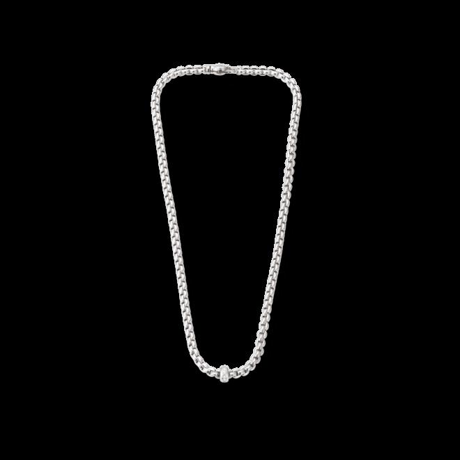 Halskette Fope Flex'it Olly Weißgold aus 750 Weißgold mit mehreren Brillanten (0,15 Karat)