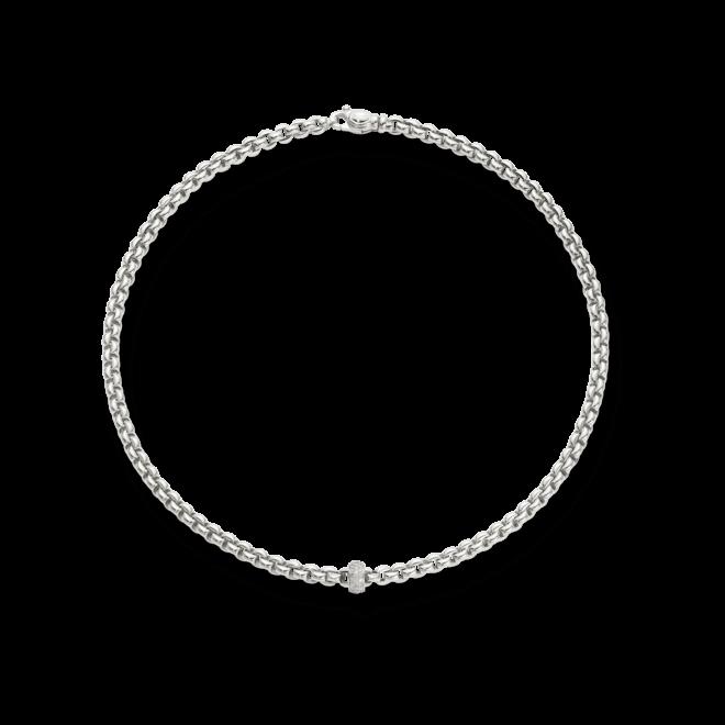 Halskette Fope Flex'it Olly Weißgold aus 750 Weißgold mit mehreren Brillanten (0,37 Karat)