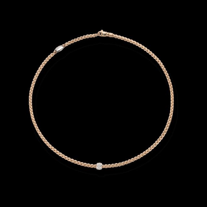 Halskette Fope Eka Tiny aus 750 Roségold mit mehreren Brillanten (0,19 Karat)