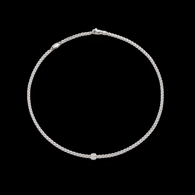 Halskette Fope Eka Tiny aus 750 Weißgold mit mehreren Brillanten (0,19 Karat)