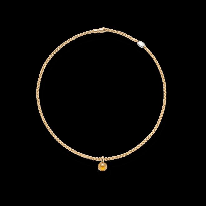 Halskette Fope Eka Tiny aus 750 Gelbgold mit 1 Citrin