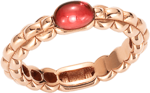 Ring Fope Eka aus 750 Roségold mit 1 Granat