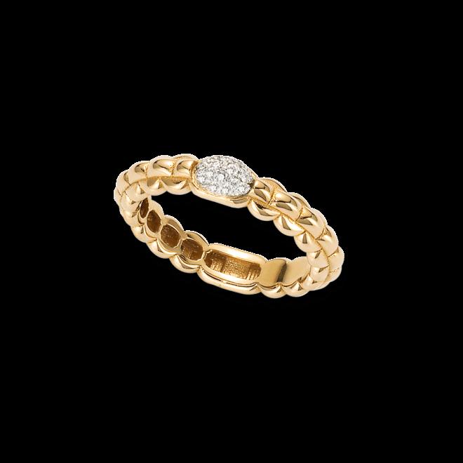 Ring Fope Eka Tiny aus 750 Gelbgold mit mehreren Brillanten (0,1 Karat)