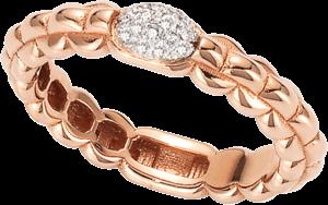 Ring Fope Eka Tiny aus 750 Roségold mit mehreren Brillanten (0,1 Karat)