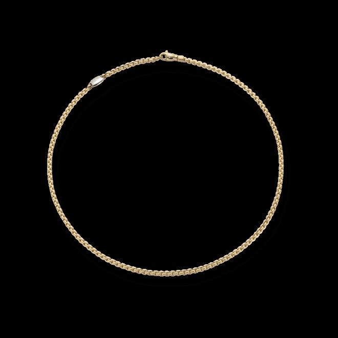 Halskette Fope Eka Tiny Gelbgold aus 750 Gelbgold und 750 Weißgold