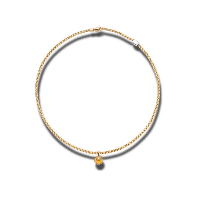 Halskette Fope Eka Tiny Gelbgold aus 750 Gelbgold mit 1 Citrin