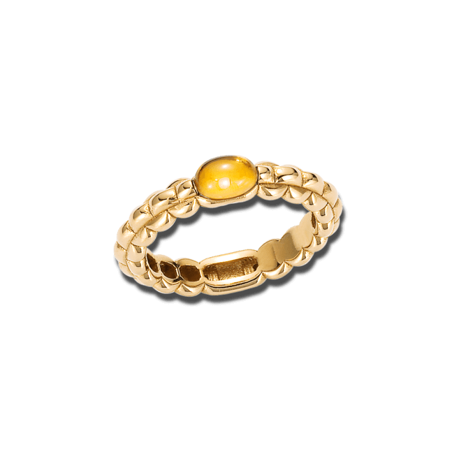 Ring Fope Eka Tiny Gelbgold aus 750 Gelbgold mit 1 Citrin