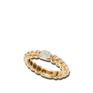 Fope Ring Eka Tiny Gelbgold AN730-PAVE_GG