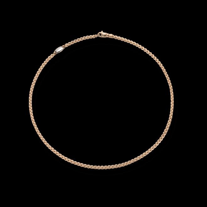 Halskette Fope Eka Tiny aus 750 Roségold und 750 Weißgold