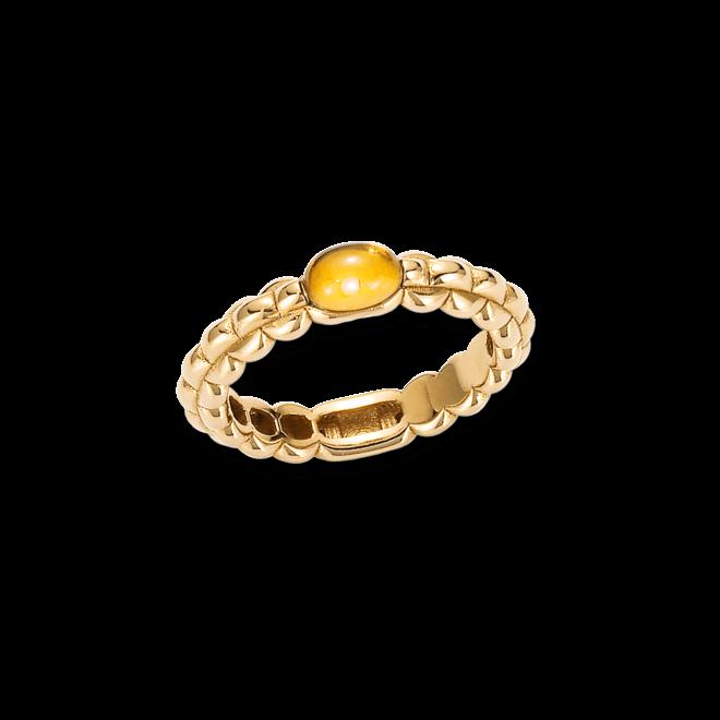 Ring Fope Eka Tiny aus 750 Gelbgold mit 1 Citrin
