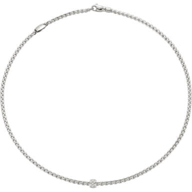 Fope Halskette Eka Tiny Weißgold 730C-PAVE-430_WG