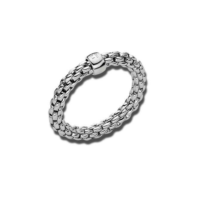 Ring Fope Flex'it Essentials aus 750 Weißgold