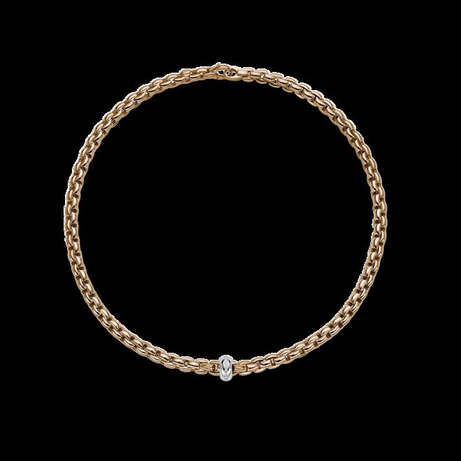 Halskette Fope Eka Anniversario aus 750 Roségold und 750 Weißgold mit mehreren Brillanten (0,13 Karat)