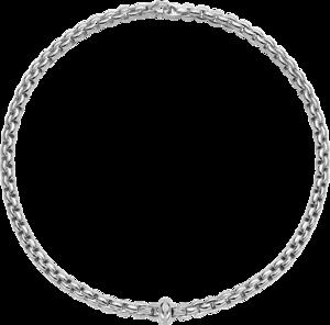 Halskette Fope Eka Anniversario aus 750 Weißgold mit mehreren Brillanten (0,13 Karat)