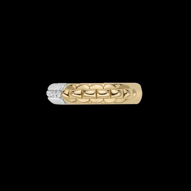 Ring Fope Eka Anniversario aus 750 Gelbgold und 750 Weißgold mit mehreren Brillanten (0,11 Karat) bei Brogle