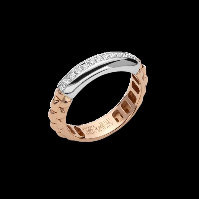 Ring Fope Eka Anniversario aus 750 Roségold und 750 Weißgold mit mehreren Brillanten (0,11 Karat) bei Brogle