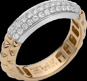 Ring Fope Eka Anniversario aus 750 Roségold und 750 Weißgold mit mehreren Brillanten (0,32 Karat)