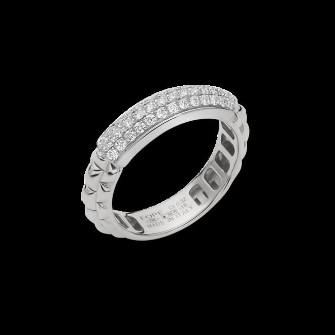Ring Fope Eka Anniversario aus 750 Weißgold mit mehreren Brillanten (0,32 Karat)