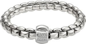 Armband Fope Flex'it Eka aus 750 Weißgold mit mehreren Brillanten (0,25 Karat) Größe L