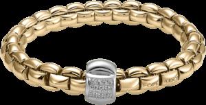 Armband Fope Flex'it Eka aus 750 Roségold und 750 Weißgold mit mehreren Brillanten (0,25 Karat) Größe S