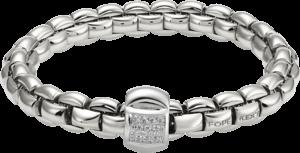 Armband Fope Flex'it Eka aus 750 Weißgold mit mehreren Brillanten (0,25 Karat) Größe S