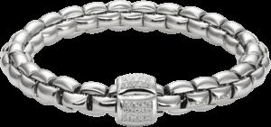 Armband Fope Flex'it Eka aus 750 Weißgold mit mehreren Brillanten (0,5 Karat) Größe S