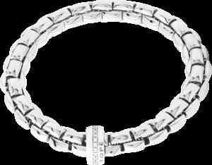 Armband Fope Flex'it Eka aus 750 Weißgold mit mehreren Brillanten (0,21 Karat) Größe M
