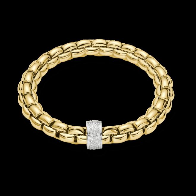 Armband Fope Flex'it Eka aus 750 Gelbgold mit mehreren Brillanten (0,63 Karat) Größe L