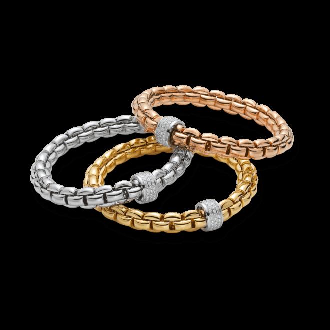 Armband Fope Flex'it Eka aus 750 Roségold mit mehreren Brillanten (0,63 Karat) Größe S