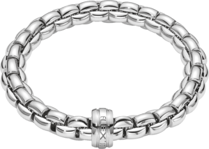 Armband Fope Flex'it Eka aus 750 Weißgold Größe L