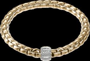 Armband Fope Flex'it Eka aus 750 Roségold mit mehreren Brillanten (0,24 Karat) Größe L