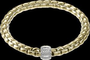 Armband Fope Flex'it Eka aus 750 Gelbgold mit mehreren Brillanten (0,24 Karat) Größe S