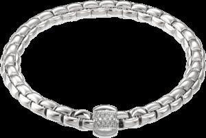 Armband Fope Flex'it Eka aus 750 Weißgold mit mehreren Brillanten (0,24 Karat) Größe S
