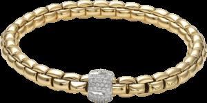 Armband Fope Flex'it Eka aus 750 Gelbgold mit mehreren Brillanten (0,49 Karat) Größe L
