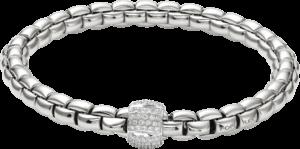 Armband Fope Flex'it Eka aus 750 Weißgold mit mehreren Brillanten (0,49 Karat) Größe M