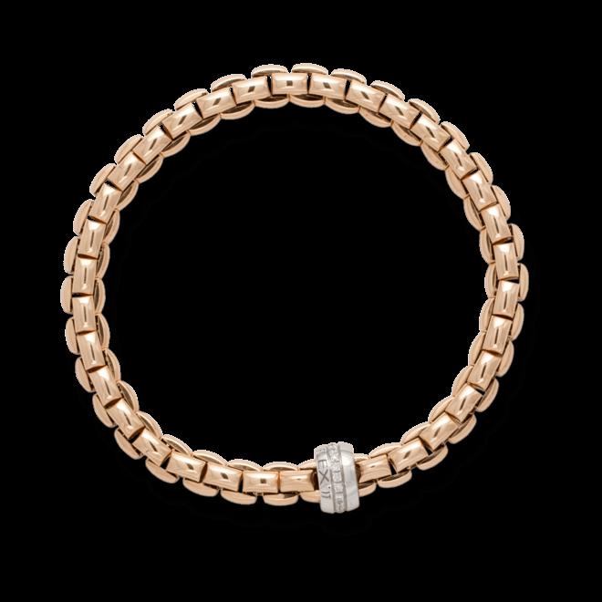 Armband Fope Flex'it Eka aus 750 Roségold und 750 Weißgold mit mehreren Brillanten (0,18 Karat) Größe L