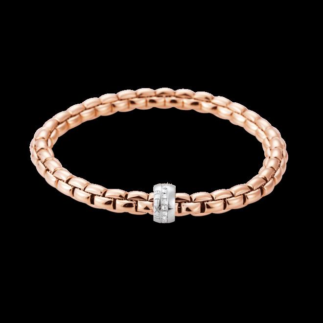 Armband Fope Flex'it Eka aus 750 Roségold und 750 Weißgold mit mehreren Brillanten (0,18 Karat) Größe M