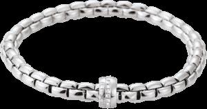 Armband Fope Flex'it Eka aus 750 Weißgold mit mehreren Brillanten (0,18 Karat) Größe S