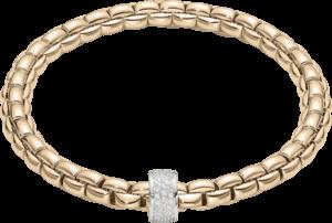 Armband Fope Flex'it Eka aus 750 Roségold mit mehreren Brillanten (0,53 Karat) Größe L