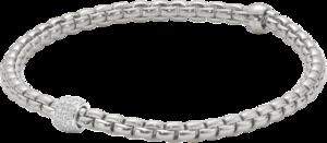 Armband Fope Eka aus 750 Weißgold mit mehreren Diamanten (0,19 Karat)