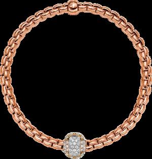 Armband Fope Eka aus 750 Roségold und 750 Weißgold mit mehreren Brillanten (0,69 Karat)