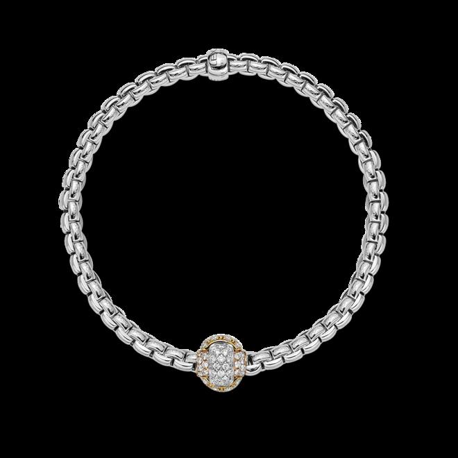 Armband Fope Eka aus 750 Weißgold und 750 Roségold mit mehreren Brillanten (0,69 Karat)