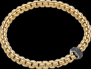 Armband Fope Eka Flex'it aus 750 Gelbgold und 750 Weißgold mit mehreren Brillanten (0,41 Karat) Größe S