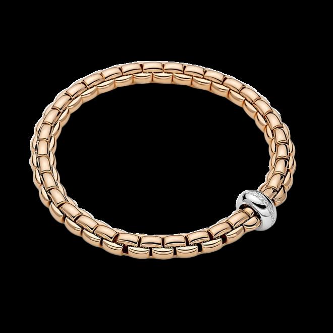 Armband Fope Flex'it Eka Anniversario aus 750 Roségold und 750 Weißgold mit mehreren Brillanten (0,13 Karat) Größe XS