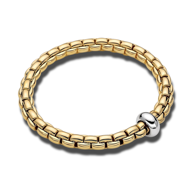 Armband Fope Flex'it Eka Anniversario aus 750 Gelbgold und 750 Weißgold Größe S