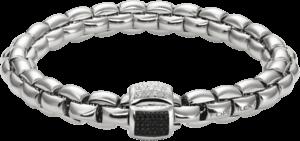 Armband Fope Flex'it Eka aus 750 Weißgold mit mehreren Brillanten (0,53 Karat) Größe S