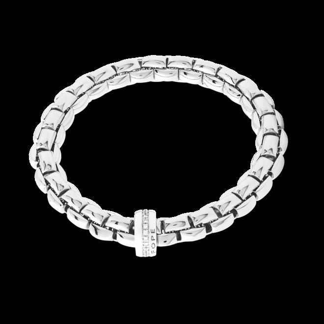 Armband Fope Flex'it Eka aus 750 Weißgold mit mehreren Brillanten (0,21 Karat) Größe XS