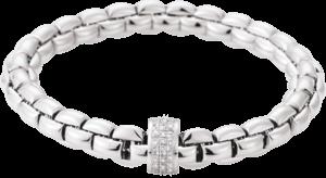 Armband Fope Flex'it Eka aus 750 Weißgold mit mehreren Brillanten (0,63 Karat) Größe L