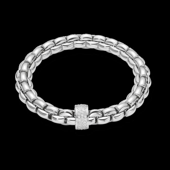 Armband Fope Flex'it Eka aus 750 Weißgold mit mehreren Brillanten (0,63 Karat) Größe L bei Brogle